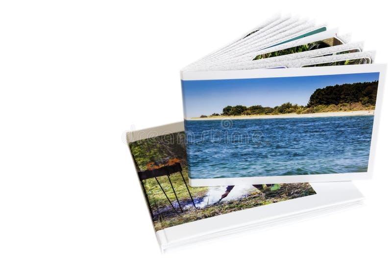 Zwei des Fotoalbums auf weißem Hintergrund lizenzfreies stockbild