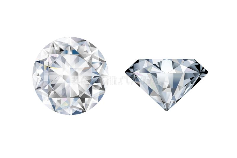 Zwei Diamanten in den verschiedenen Perspektiven stock abbildung
