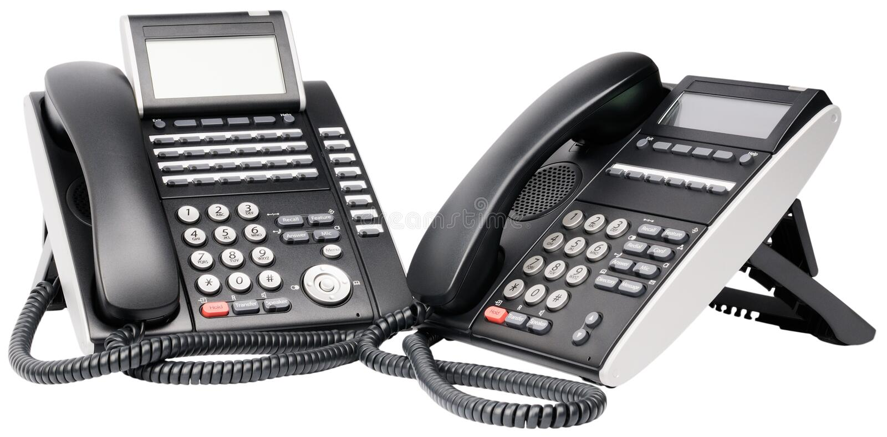 Zwei Digitaltelefonsets lizenzfreies stockfoto