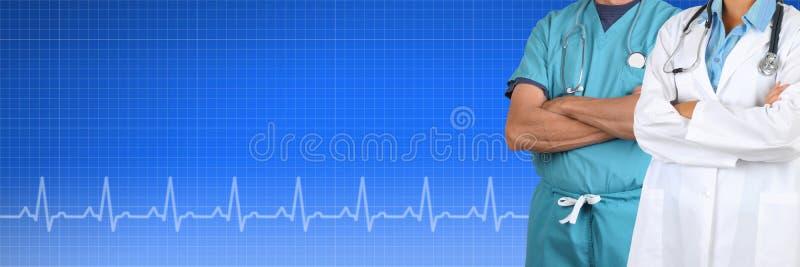 Zwei Doktor Medical Banner stockfoto