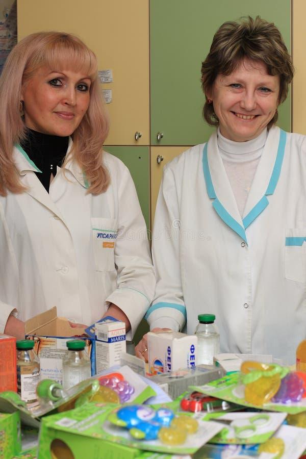 Zwei Drogisten   stockfoto