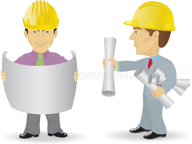 Zwei Erbauer stock abbildung