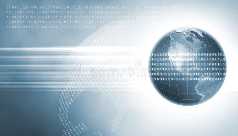 Zwei Erde mit Daten