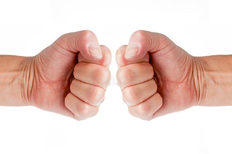 Zwei Fäuste lizenzfreies stockbild