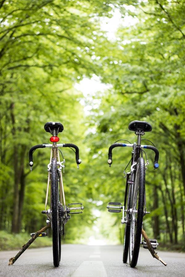 Zwei Fahrräder stockbilder