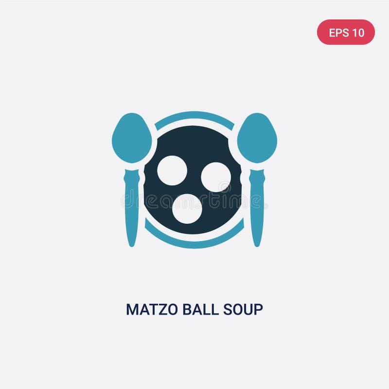 Zwei Farbematzoball-Suppenvektorikone vom Religionskonzept lokalisiertes blaues Matzoball-Suppenvektor-Zeichensymbol kann Gebrauc vektor abbildung