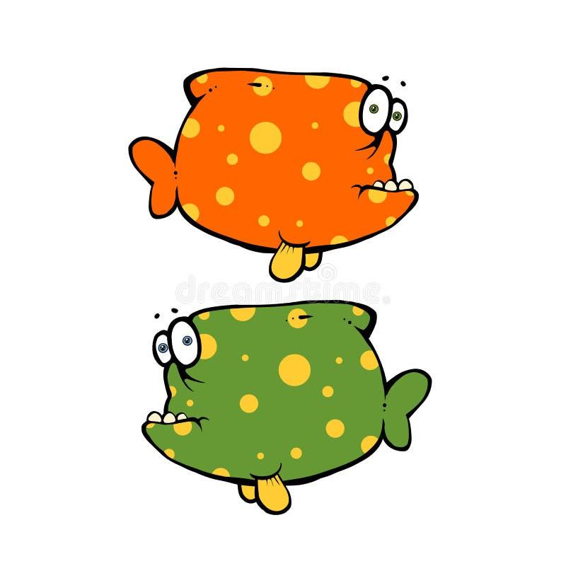 Zwei farbige Fische vektor abbildung