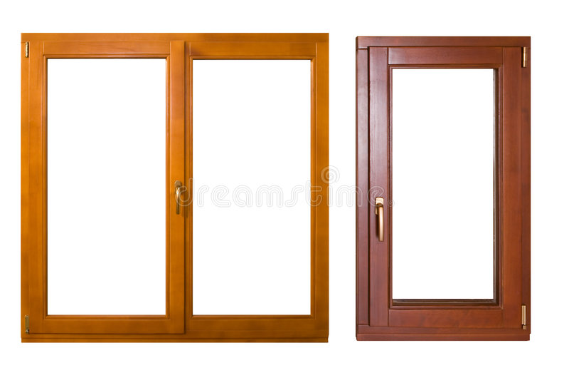 Zwei Fenster lizenzfreie stockbilder