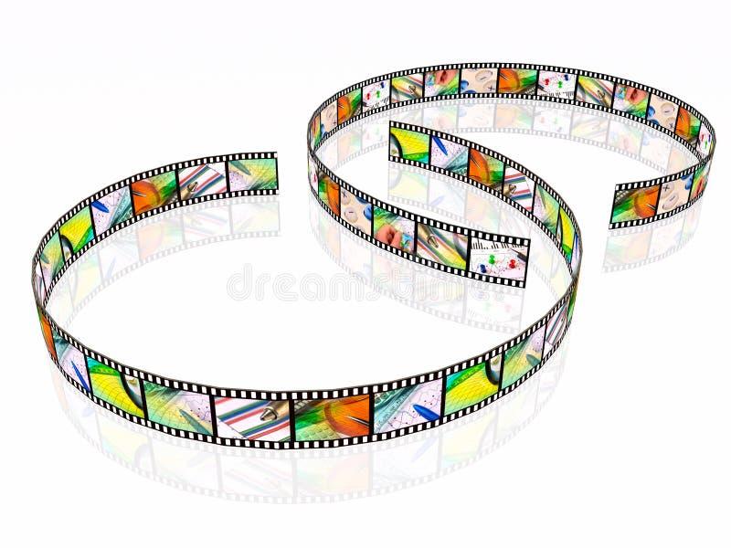 Zwei Filmstreifen lizenzfreie abbildung