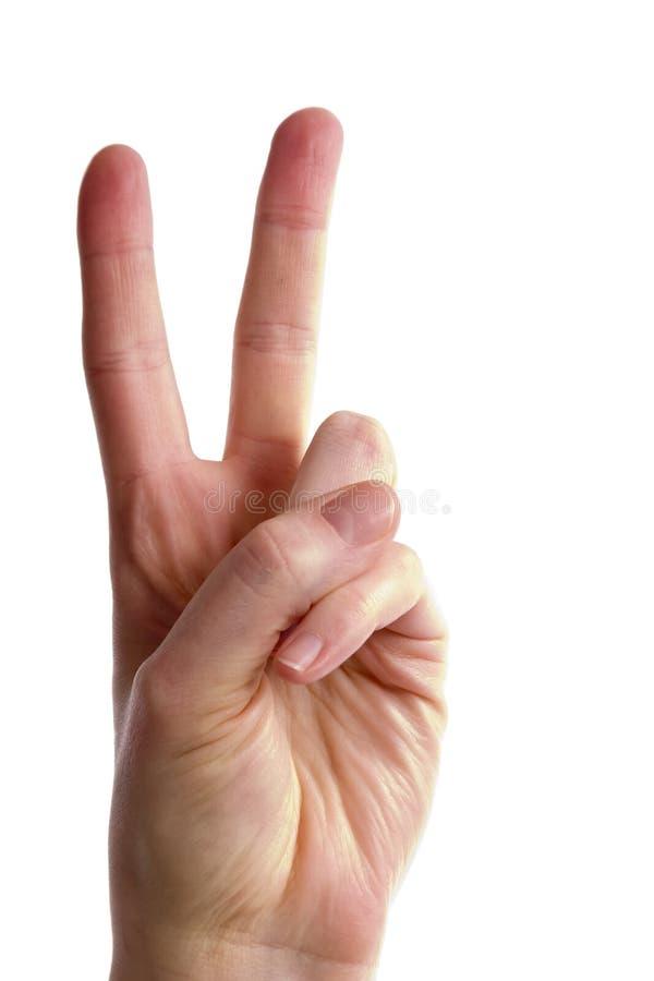 Zwei Finger stockfotografie