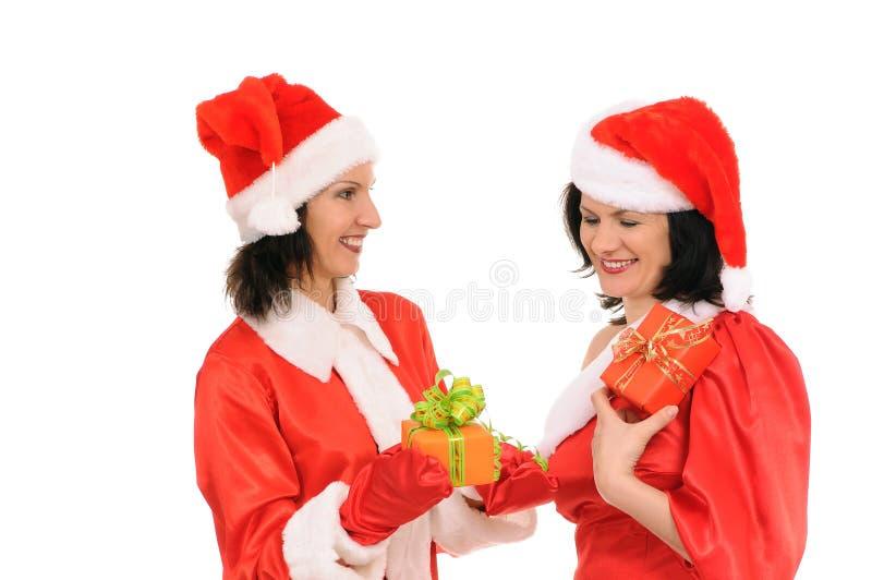 Zwei Frau Sankt lizenzfreie stockfotos