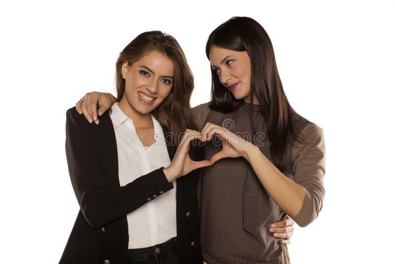Zwei Frauen in der Liebe stockbild. Bild von liebe, zwei