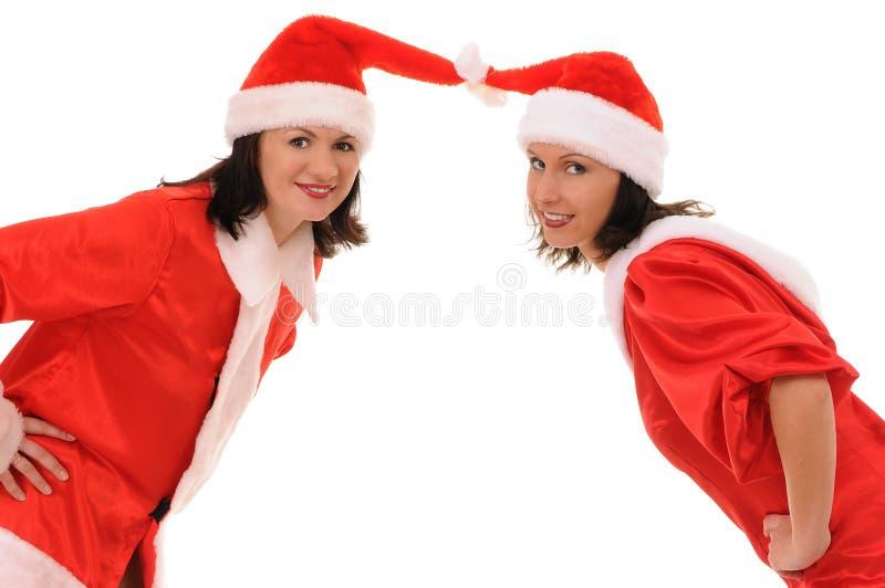 Zwei Frauen Sankt lizenzfreie stockfotos