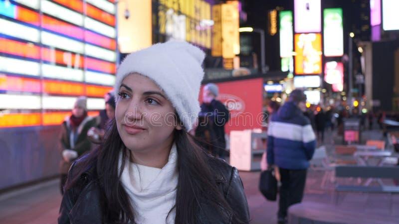 Zwei Freunde reisen nach New York für die Besichtigung lizenzfreie stockfotografie
