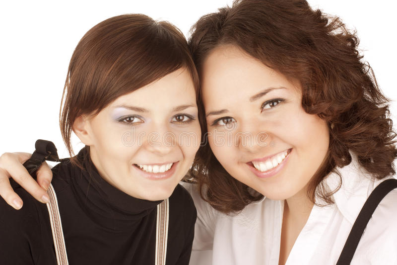 Zwei Freundinnen stockbild