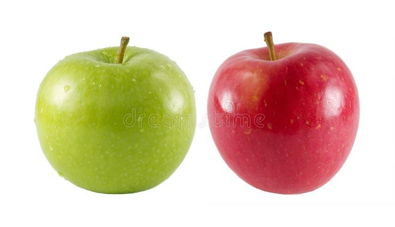 Zwei frische Äpfel lizenzfreies stockfoto