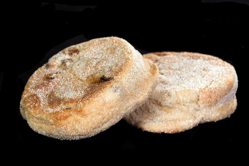 Zwei frische gebackene Muffins lizenzfreies stockfoto