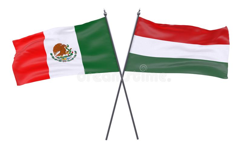 Zwei gekreuzte Flaggen lizenzfreie abbildung