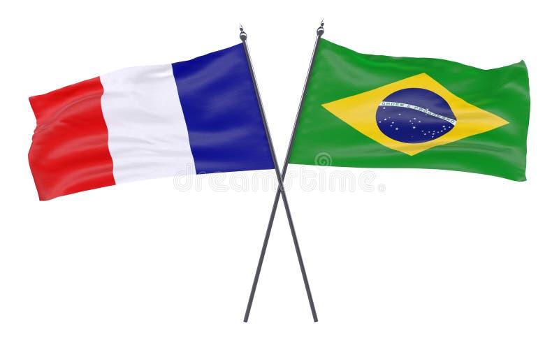 Zwei gekreuzte Flaggen stock abbildung