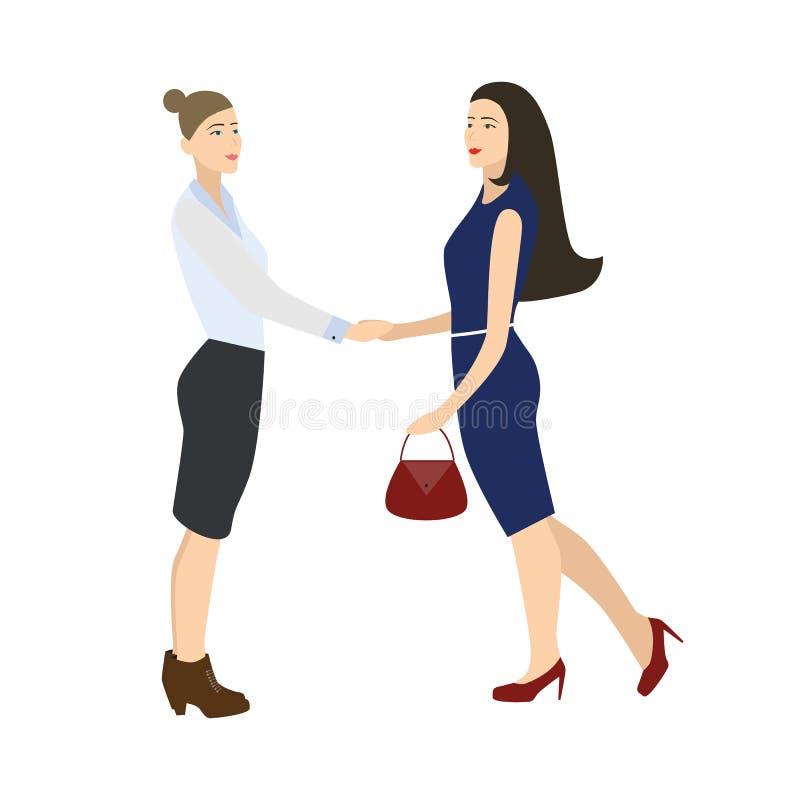 Zwei Geschäftsfrau stockfotografie