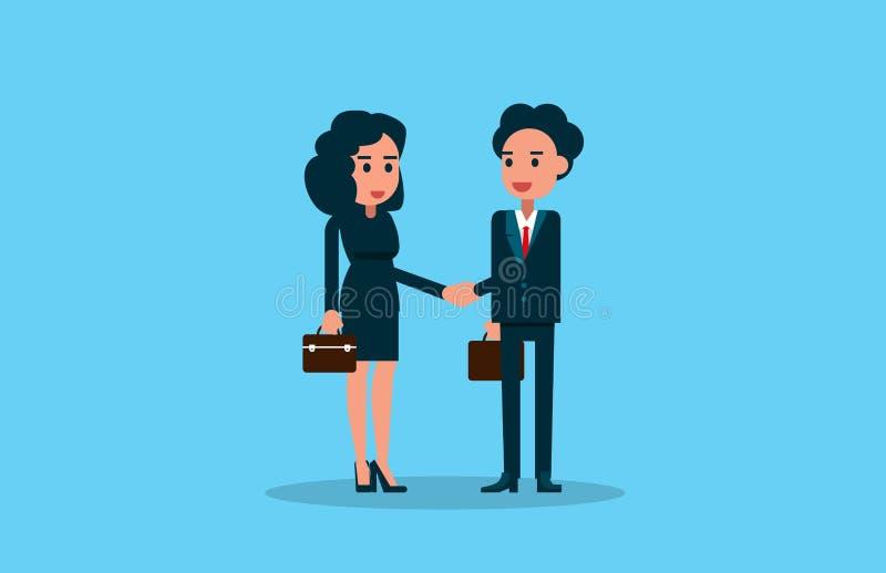 Zwei Geschäftsleute, die Hände rütteln Vektorillustrationsgeschäft vektor abbildung