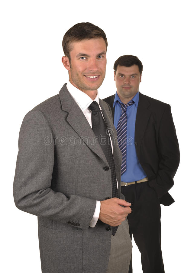 Zwei Geschäftsmänner lizenzfreie stockfotografie