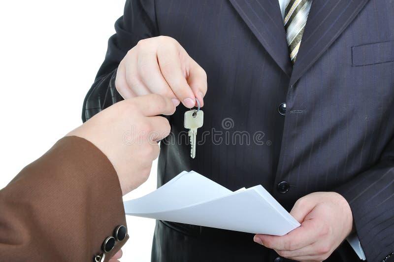 Zwei Geschäftsmannhände stockbild