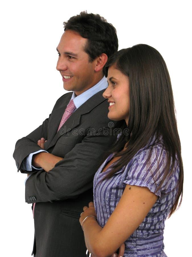 Zwei Geschäftspersonen lizenzfreie stockfotos