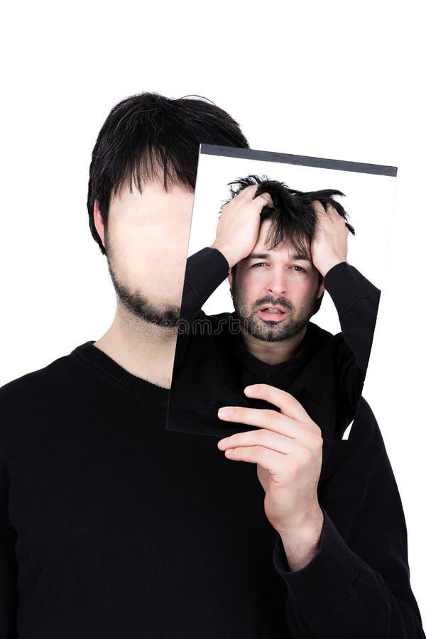 Zwei Gesichter frustriert lizenzfreies stockfoto