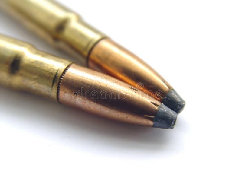 Zwei Gewehr-Gewehrkugeln Lizenzfreie Stockfotografie