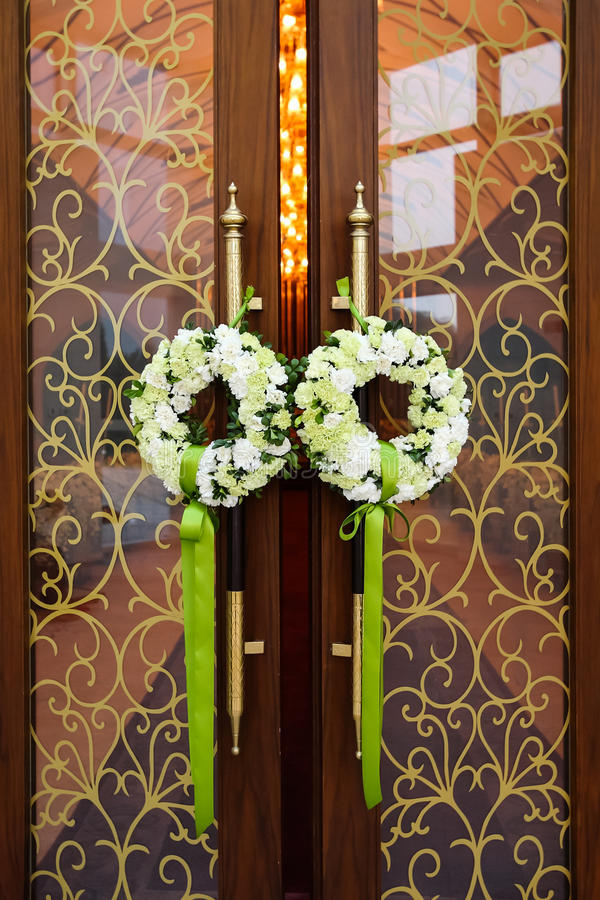 Hochzeitstür lizenzfreies stockbild