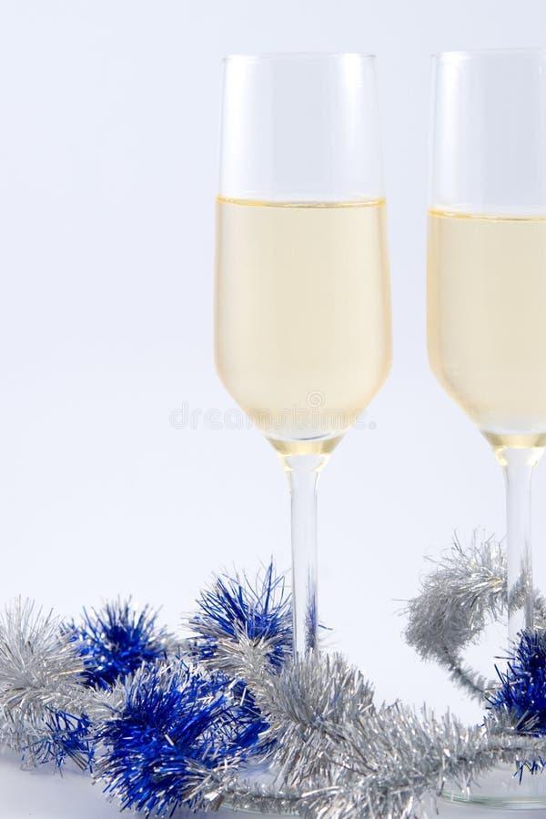 Zwei Gläser Champagner stockfoto