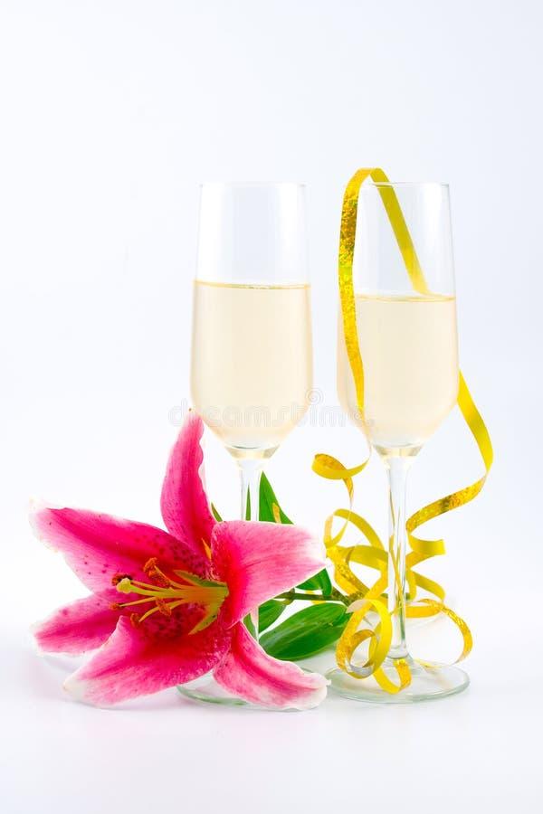 Zwei Gläser Champagner stockfotografie