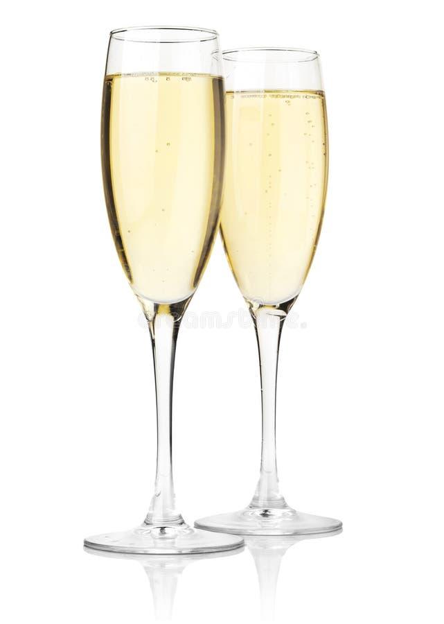 Zwei Gläser Champagner lizenzfreies stockfoto