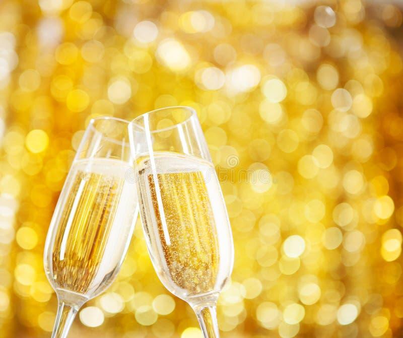 Zwei Gläser Champagner stockbild