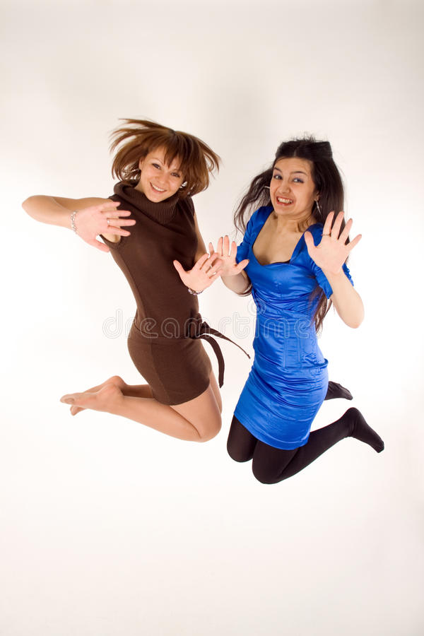 Zwei glückliche Mädchen