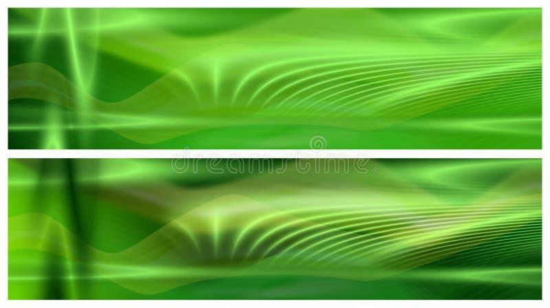 Zwei grüne Fahnen vektor abbildung