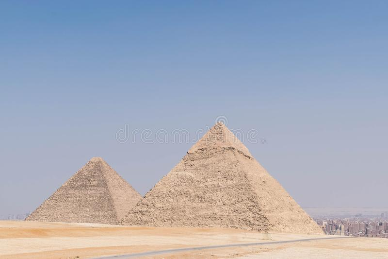 Zwei große Pyramiden Ägypten lizenzfreies stockfoto