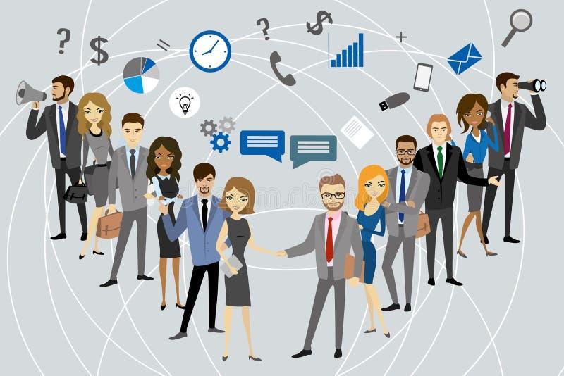 Zwei Gruppe eines Berufsgeschäftsteams lizenzfreie abbildung