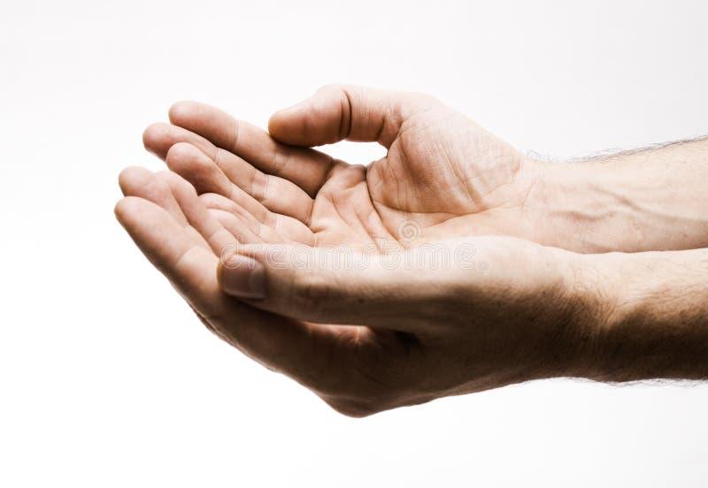 Zwei Hände stockbilder