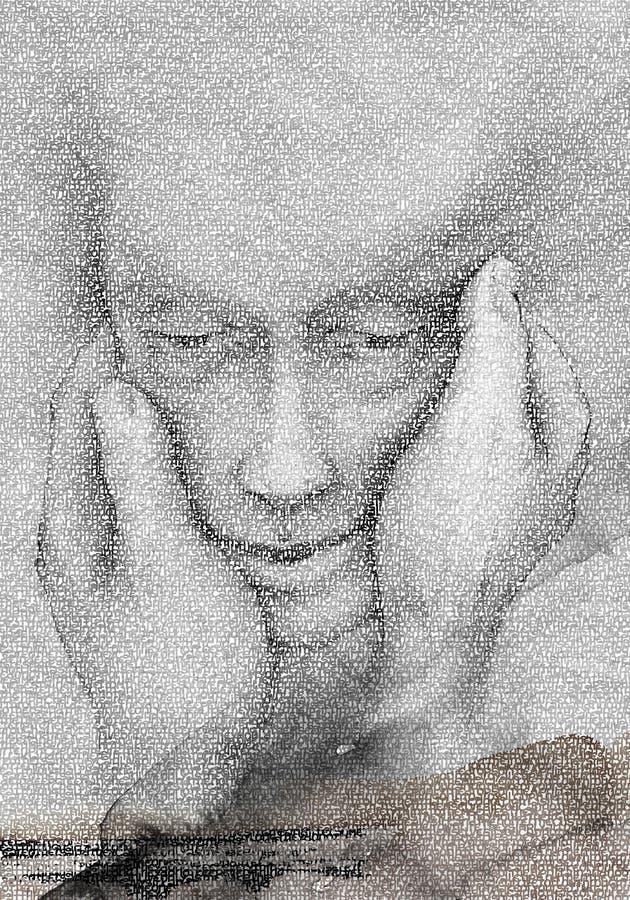 Zwei Hände, zum von Mann-Art zu formen lizenzfreies stockfoto