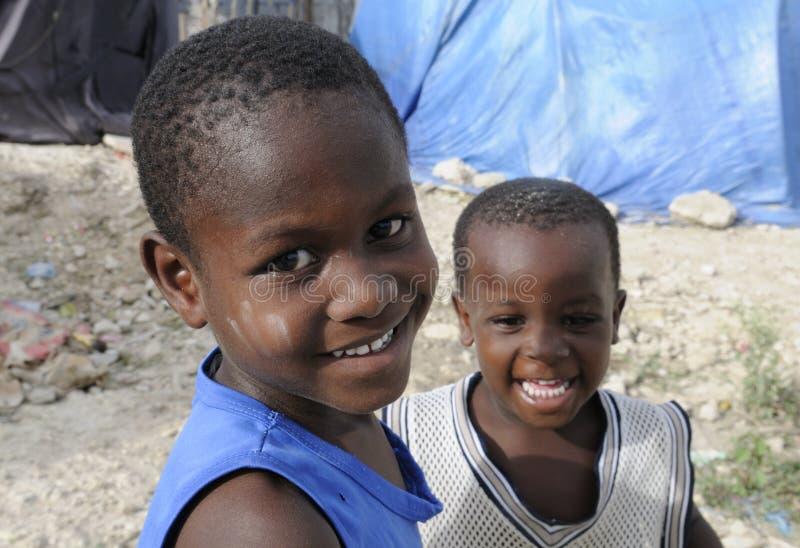 Zwei Haitianer-Kind. lizenzfreies stockfoto