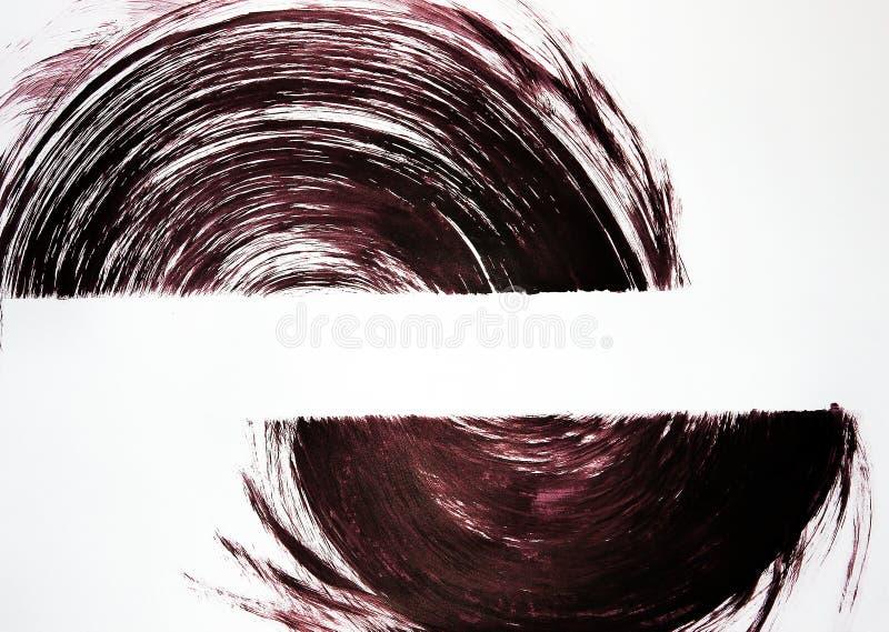 Zwei halbkreisförmige Gegenstände werden auf das Format gezeichnet Wir werden durch die Bewegung vereinigt lizenzfreie abbildung