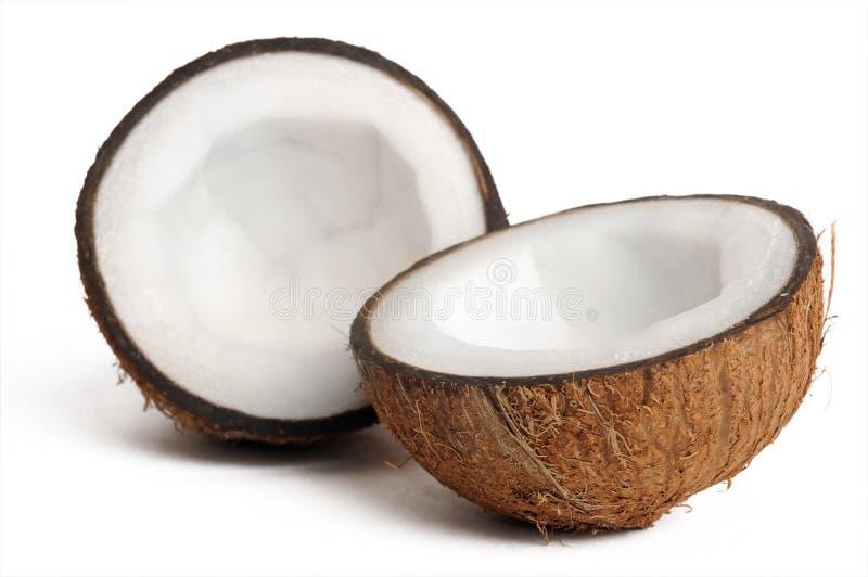 Zwei halfs Kokosnuss lizenzfreies stockbild