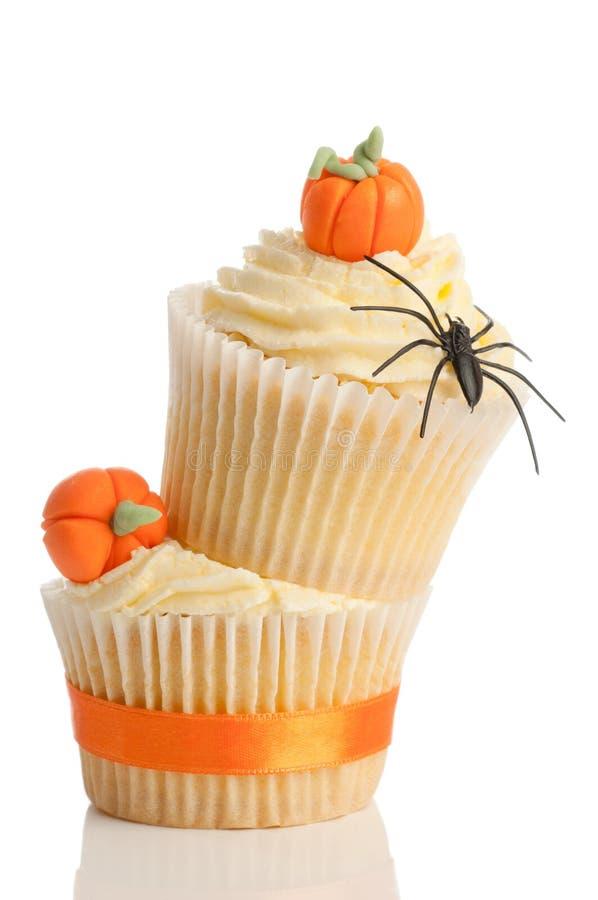 Zwei Halloween-Kuchen lizenzfreies stockfoto