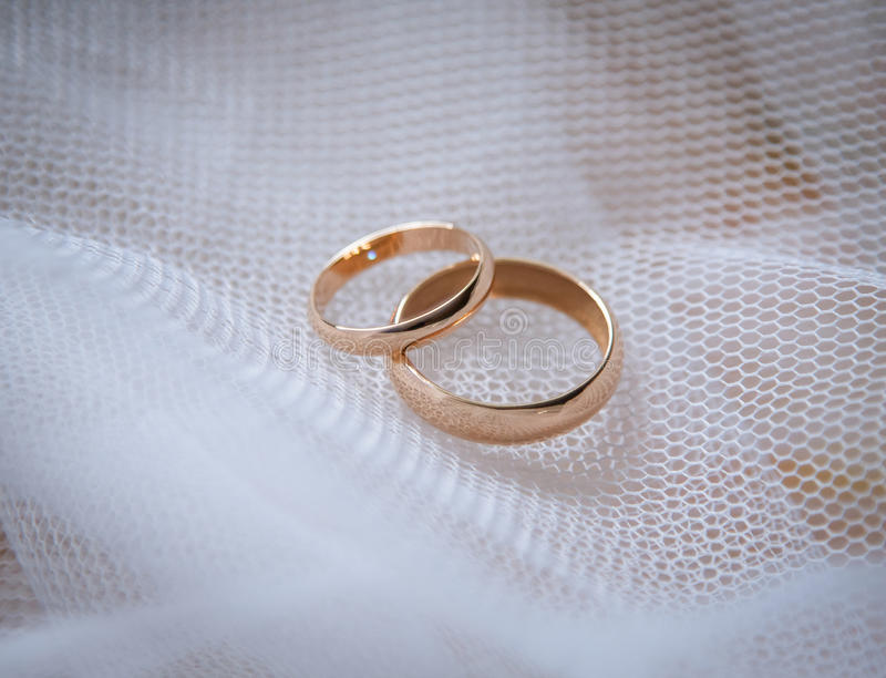 Zwei Hochzeits-Ringe stockbild