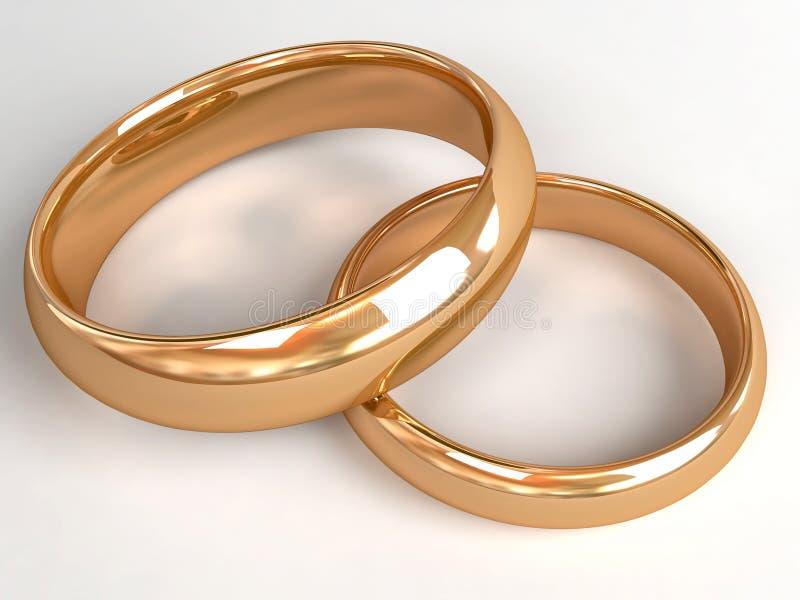Zwei Hochzeitsringe stock abbildung