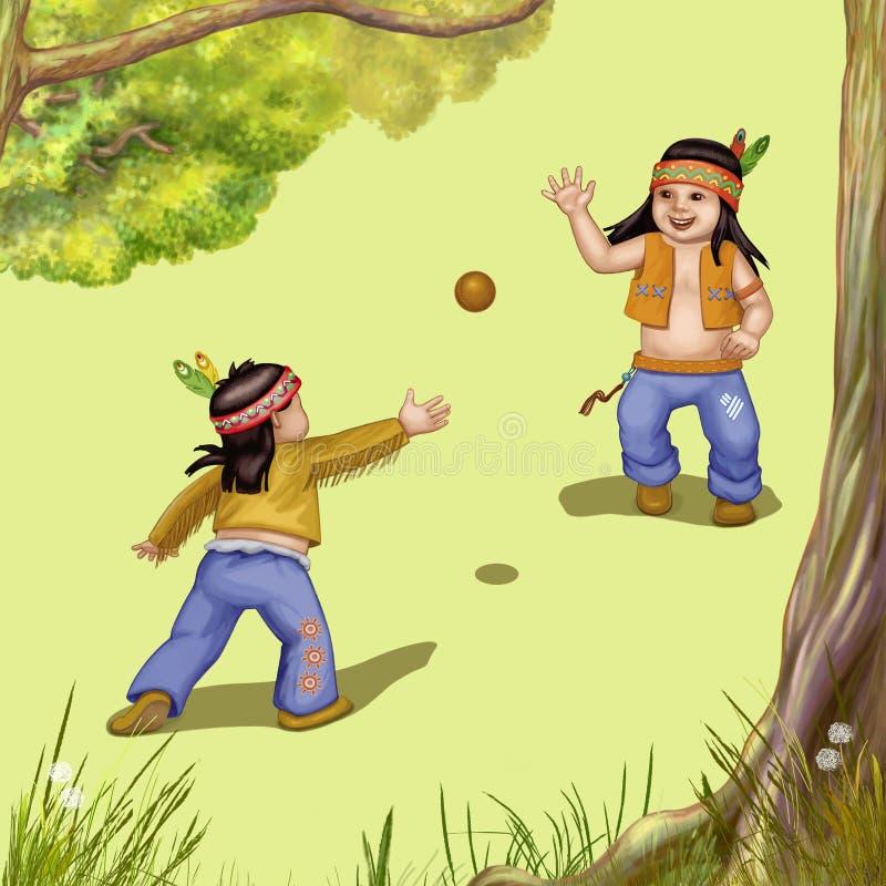 Zwei indische Jungen lizenzfreie abbildung