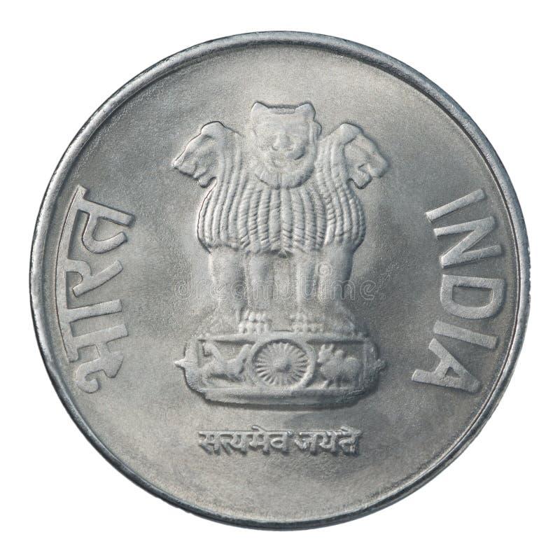 Zwei indische Rupie stockbilder