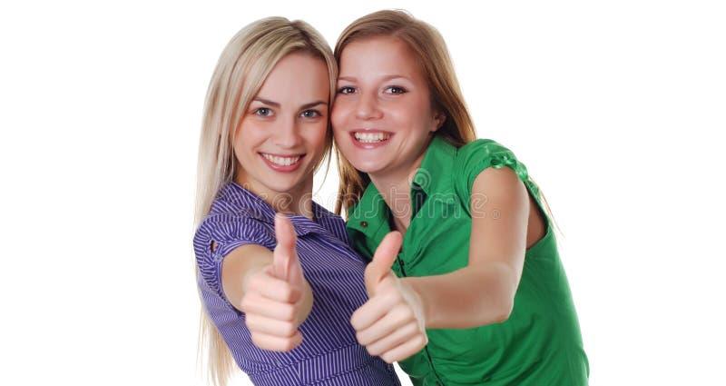 Zwei junge Frauen stockfotos